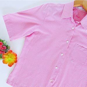 Foxcroft Pink Gingham Short Sleeve Shirt 6